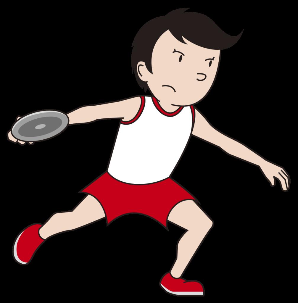 円盤投げの日本記録。男女別