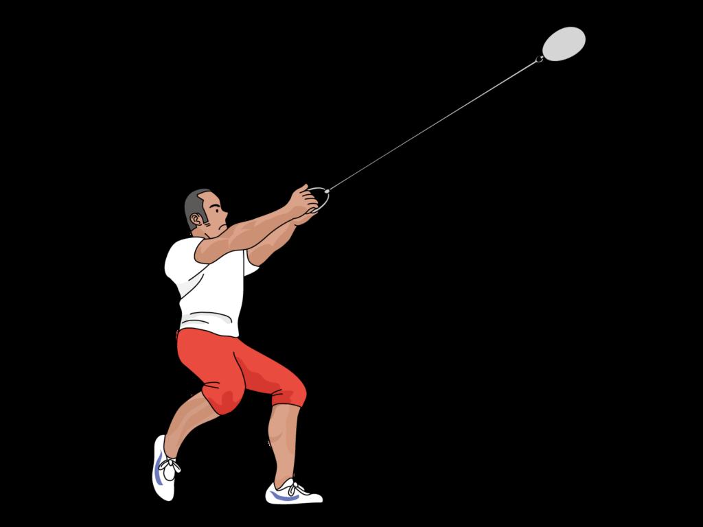 ハンマー投げの日本記録。男女別