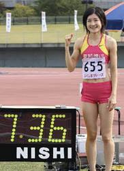 60m走日本記録保持者(女子)